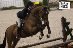 Katelin Mack and Le Cavalier competing in the USEF Medal Final